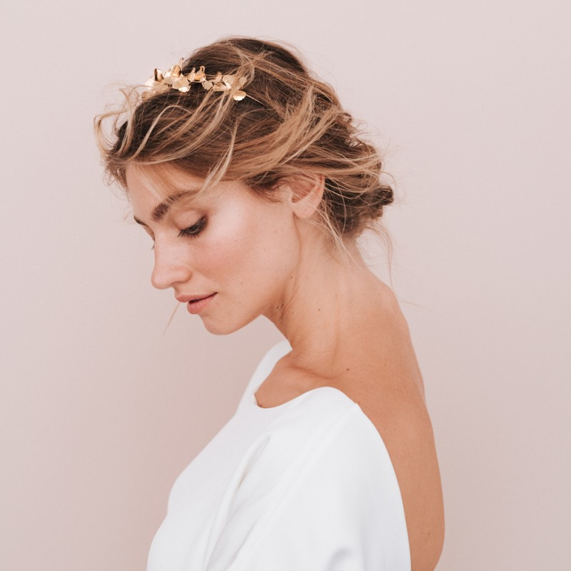 Bridal headband - DRAPE