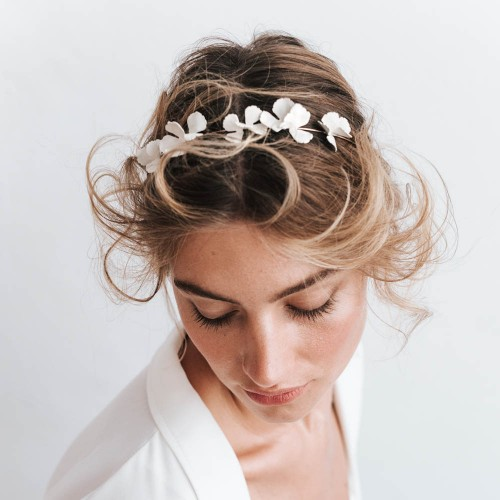 Bridal headpiece -PARFAIT white