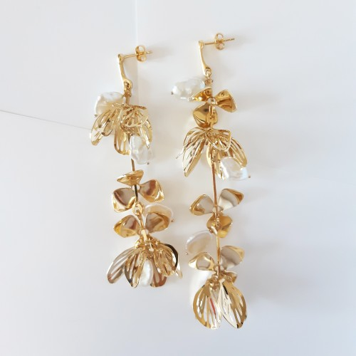 Bridal earring - Moon