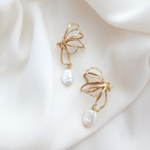 Minimal earrings - Magnolia