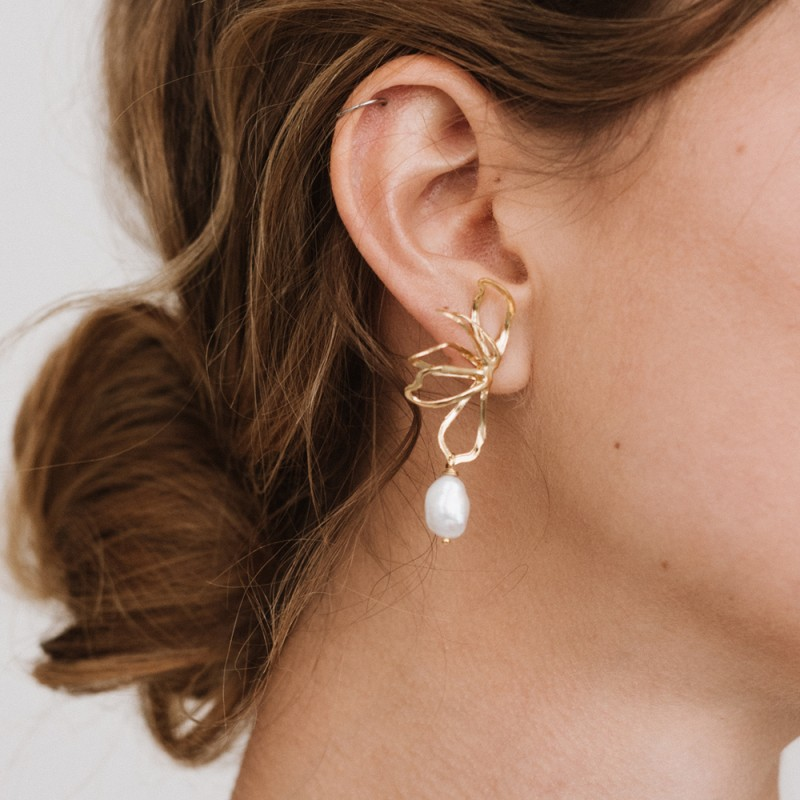 Minimal flowers earrings - Magnolia