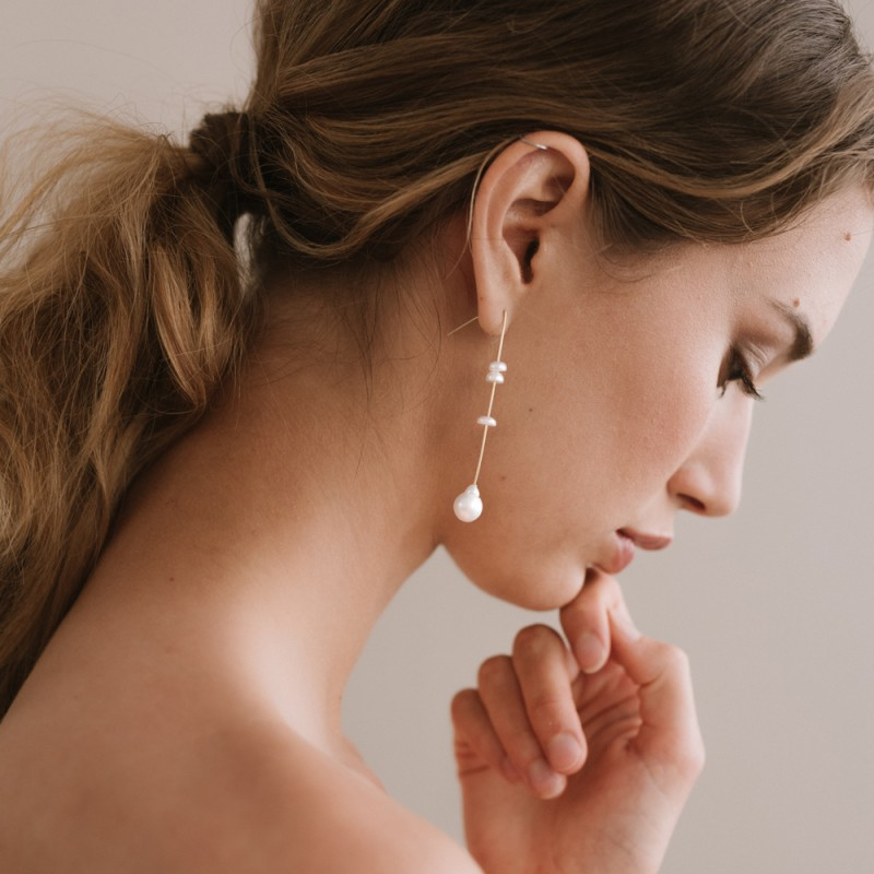 Bridal earrings - ETERNEL